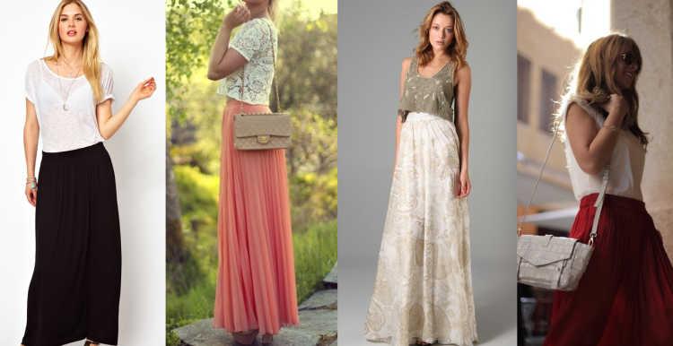 maxi faldas outfits