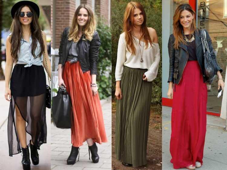 outfits maxi faldas