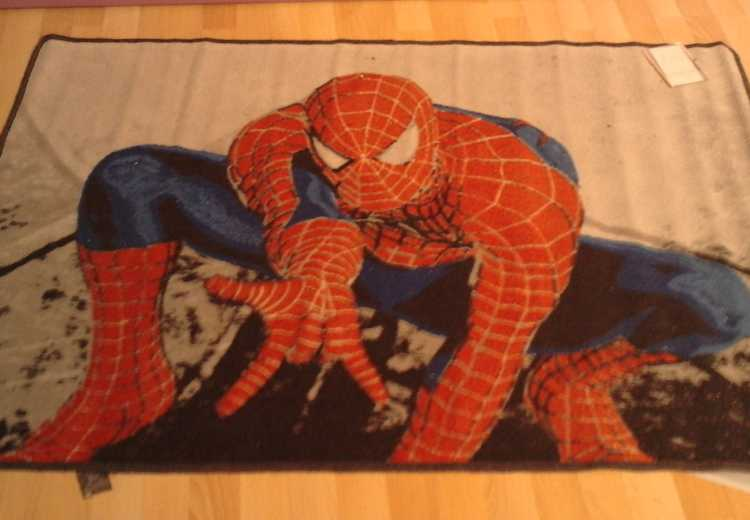 alfombra de superheroes