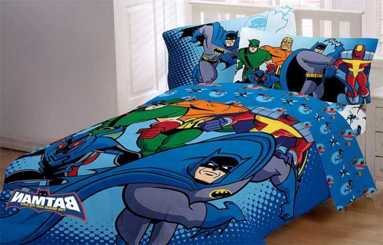 cubrecama de superheroes