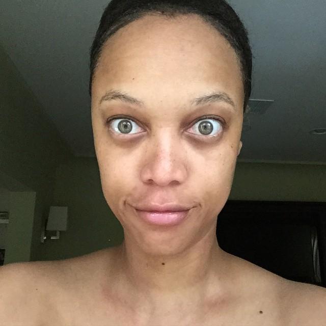 tyra bank sin maquillaje