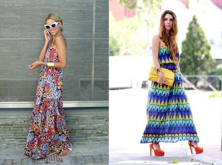 outfits maxi vestidos