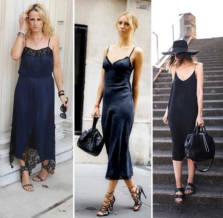 outfits slip dress