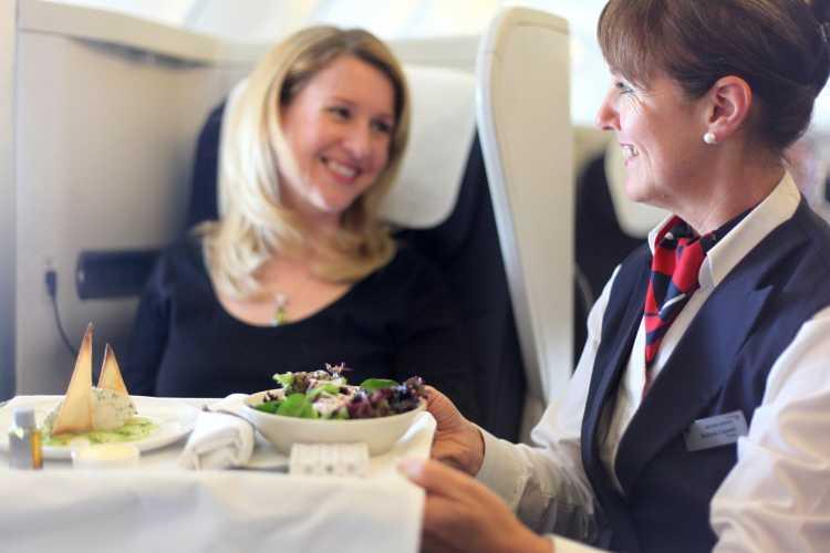 comer en el avion