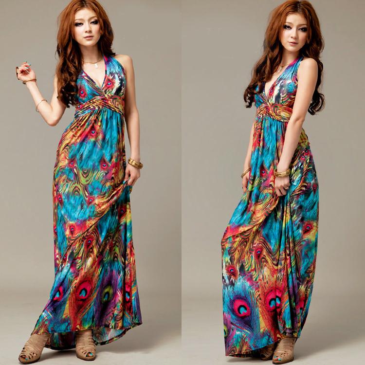 maxi vestido hippies