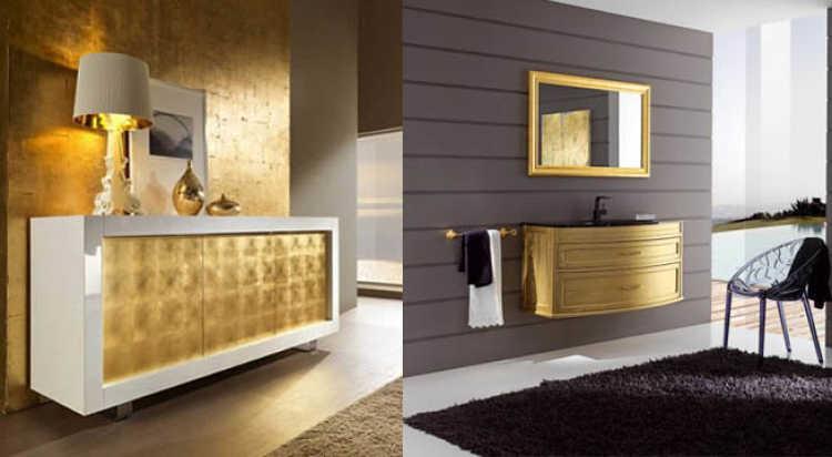 muebles dorados