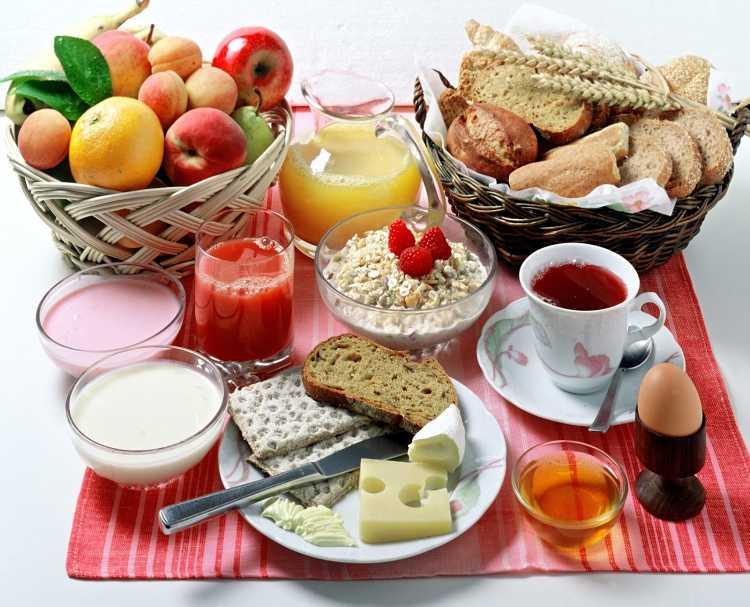 alimentos para el desayuno