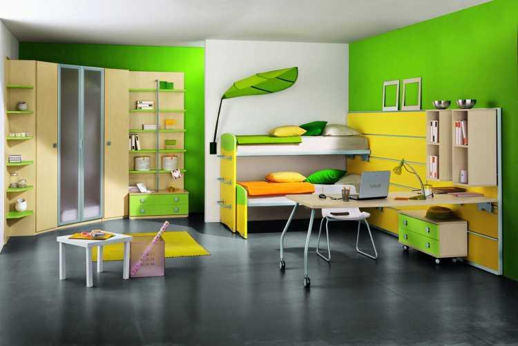 dormitorio colores contrastantes