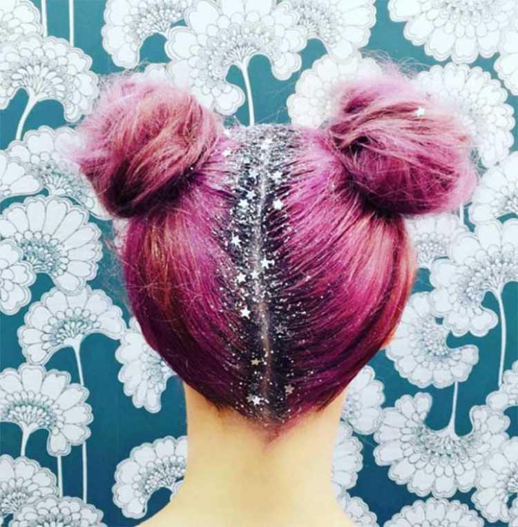 purpurina pelo