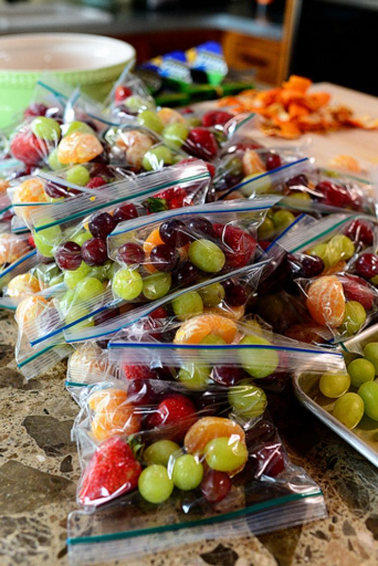 bolsas con frutas