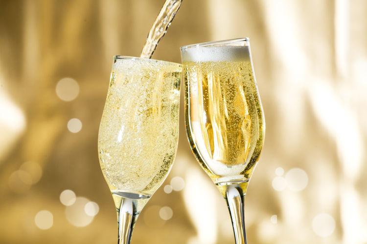 champagne con moras