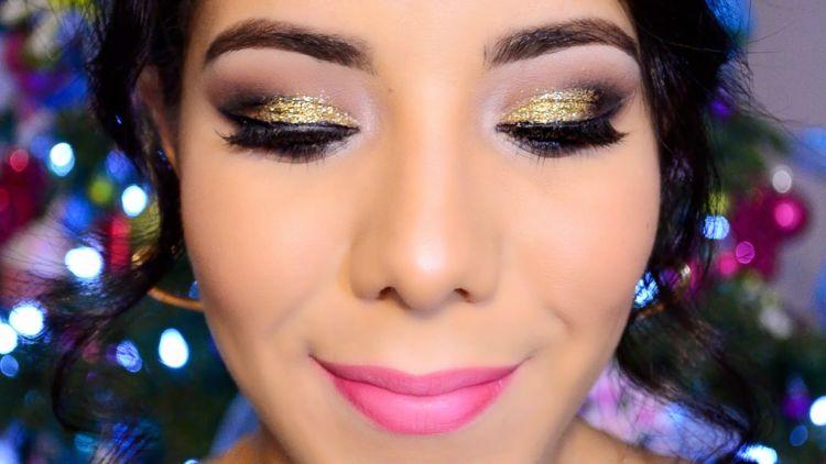 maquillaje para fin de año brillos
