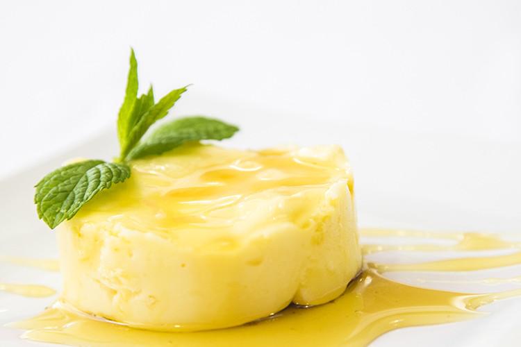 tarta de queso y menta