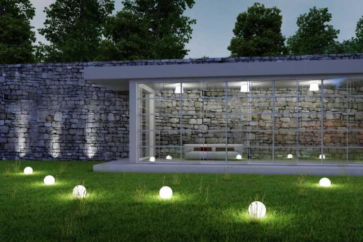 lavado de pared para iluminar jardin