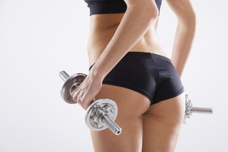 ejercicios pesas gluteos