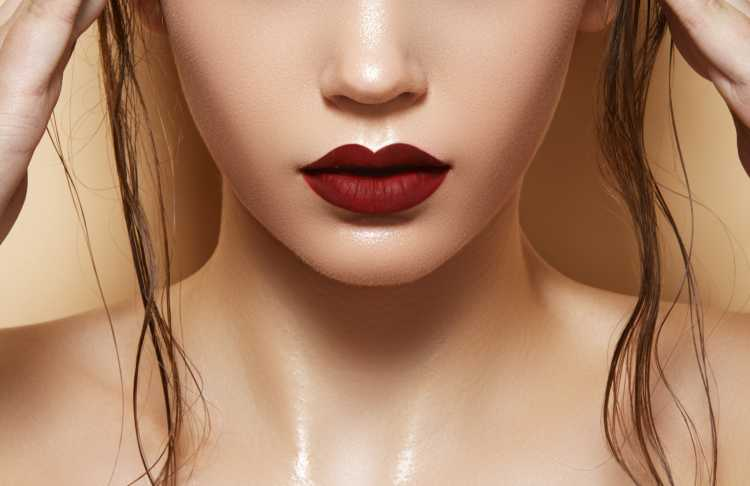 labios color marron