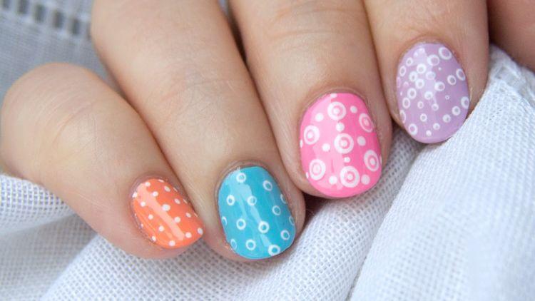 nails arts puntitos