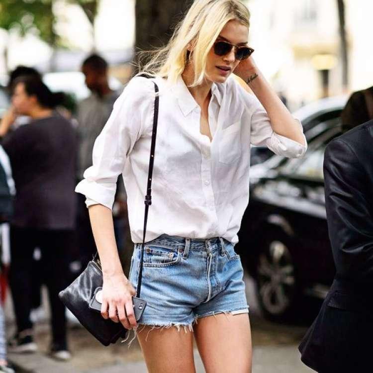 camisa blanca con short