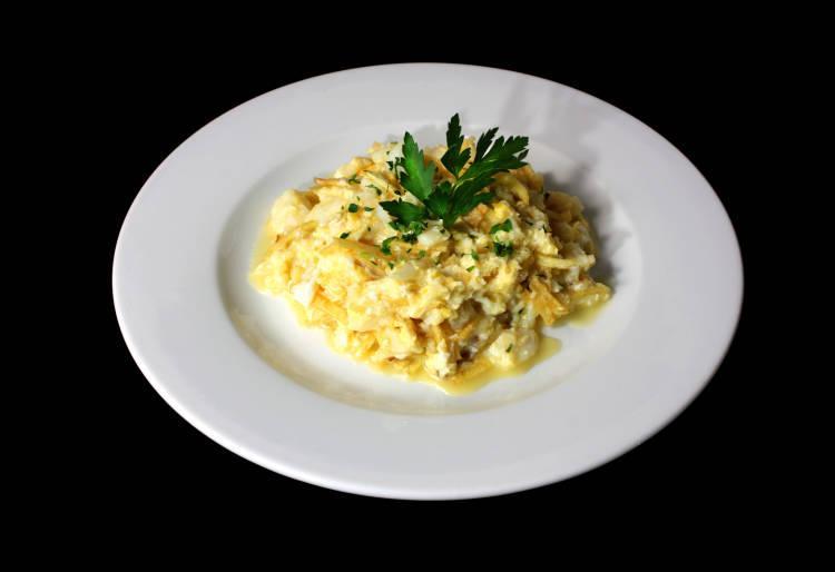 huevos revueltos con pescado