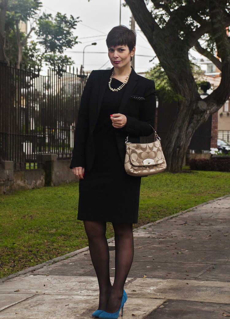look oficina vestido negro