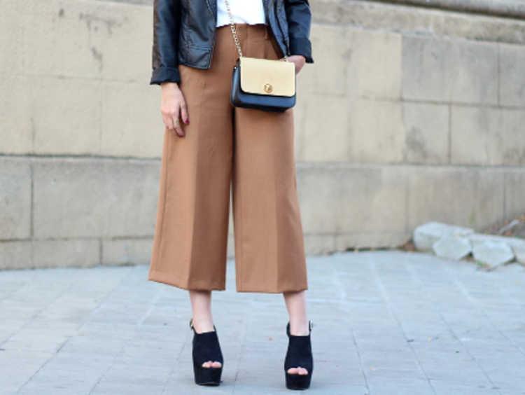 pantalon culotte look