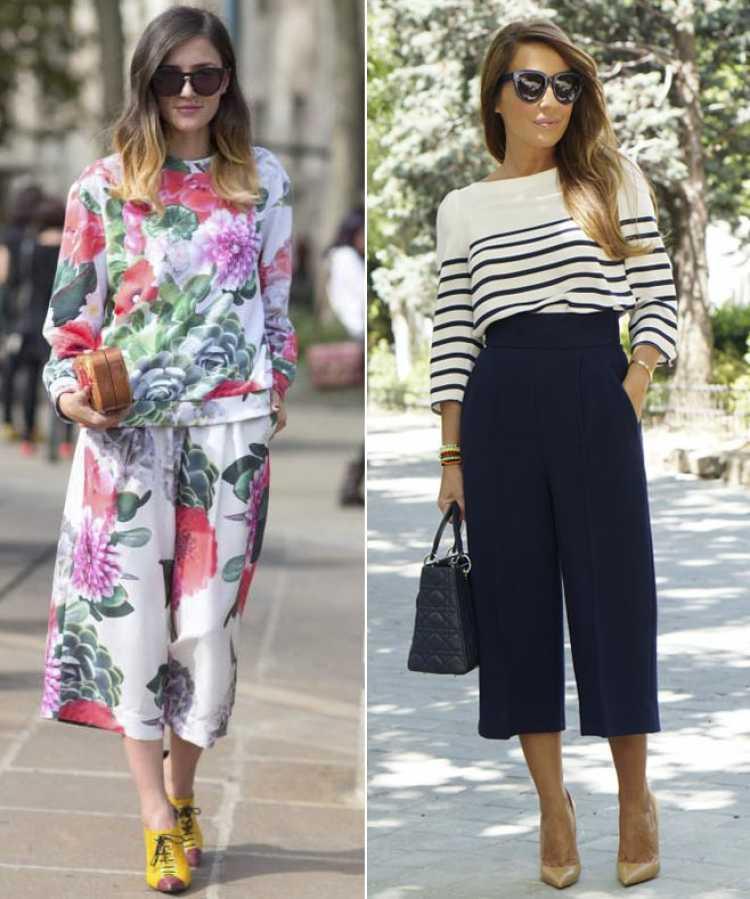 pantalon culotte outfit