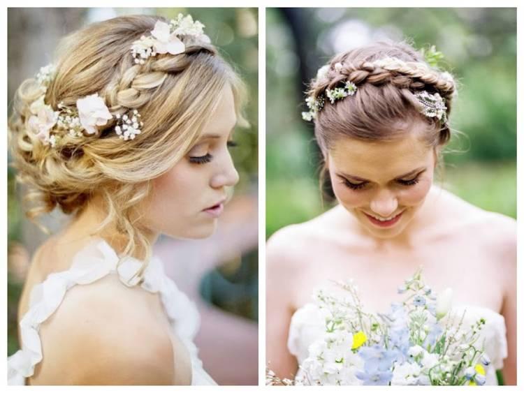 peinado trenza flores