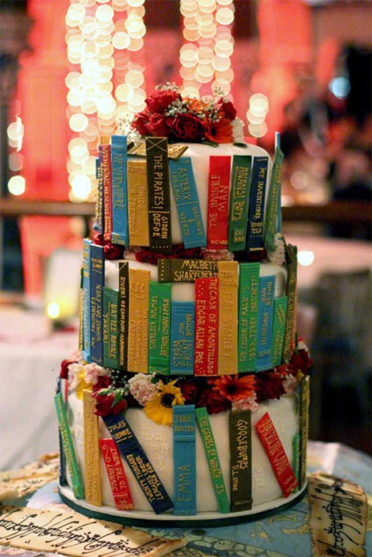 torta de libros