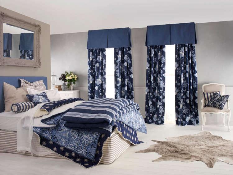 cortinas azules