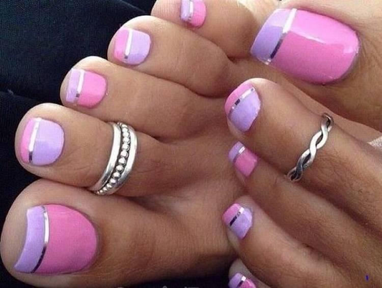 diseño uñas pies cinta adhesiva