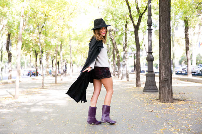 look bota de lluvia purpura