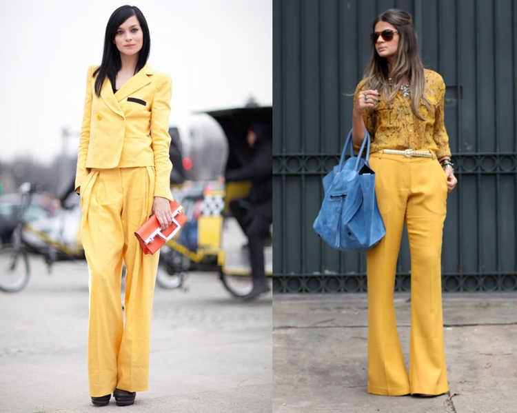 look monocromatico amarillo