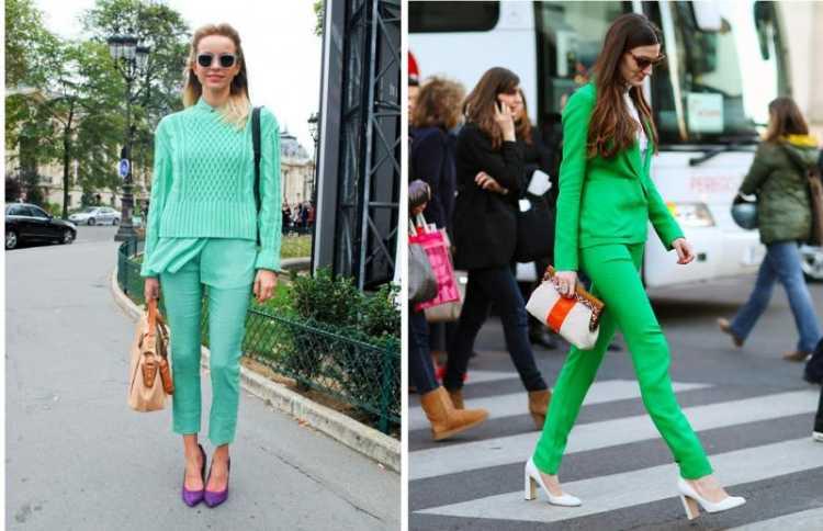 look monocromatico verde
