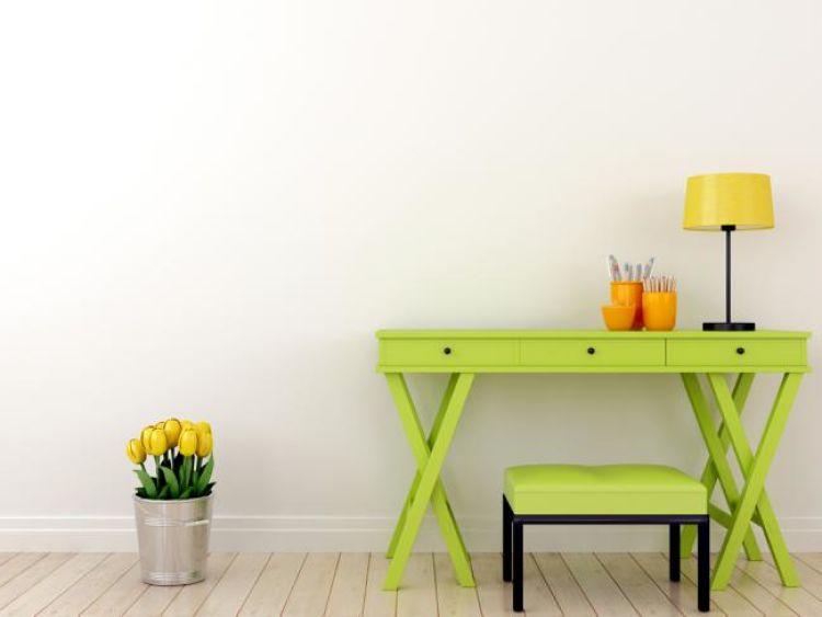 mueble reciclado color verde manzana
