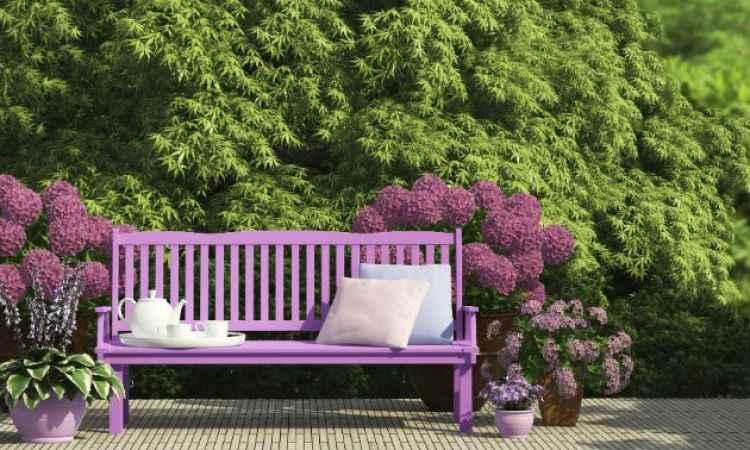 muebles de jardin de colores
