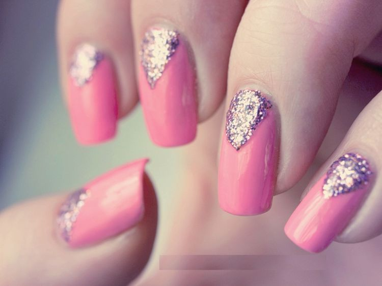 nail art triangular glitter