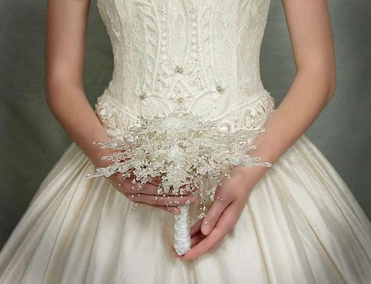 novia con ramo de yoja