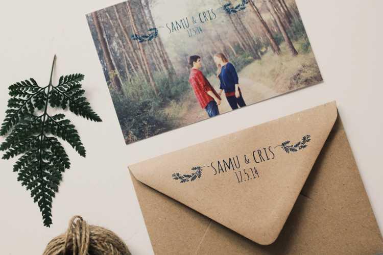 tarjeta de boda con foto