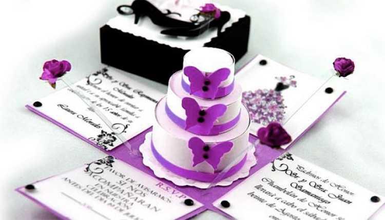 tarjeta de boda con sorpresa