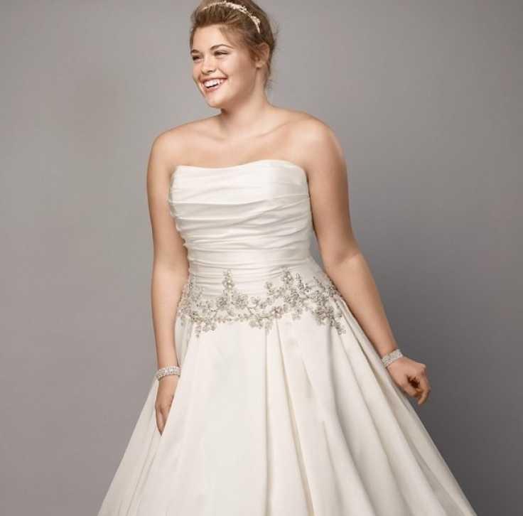 vestido de novia plizado