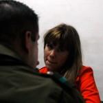Laurita Prieto en la comisaria