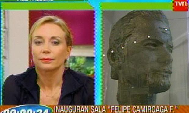Escultura de Felipe en TVN