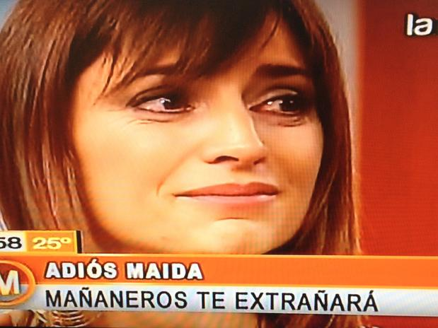 Magdalena Montes lloró al despedirse de La Red