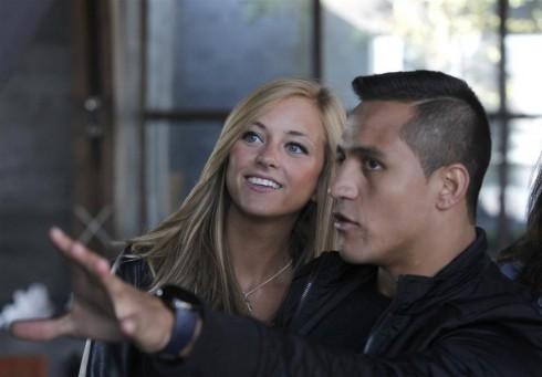Laia Grassi  y Alexis Sanchez 8