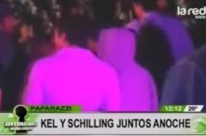 Kel Calderón y Pablo Schilling juntos en fiesta