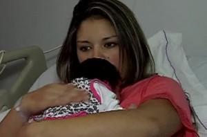 Camila Aravena fue madre