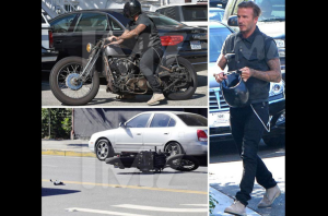 David Beckham Accidente en moto
