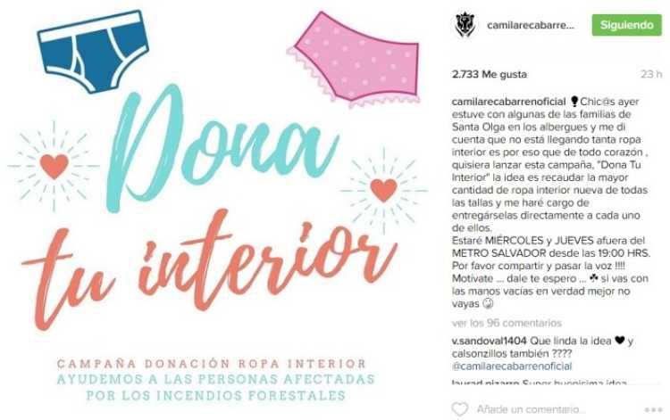 camila recabarren instagram