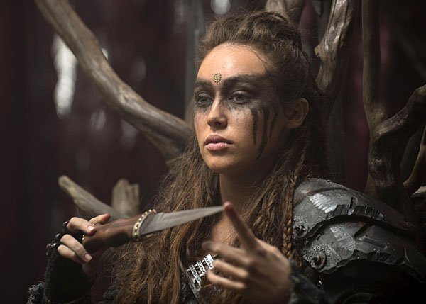 "The 100 -- ""Long Into an Abyss"" -- Image: HU207b_0040 -- Pictured: Alycia Debnam-Carey as Lexa -- Photo: Cate Cameron/The CW -- �© 2014 The CW Network, LLC. All Rights Reserved"