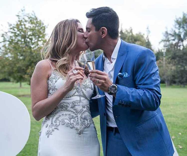 Matrimonio Queralto : Pareja del espectáculo nacional chileno espera a su primer